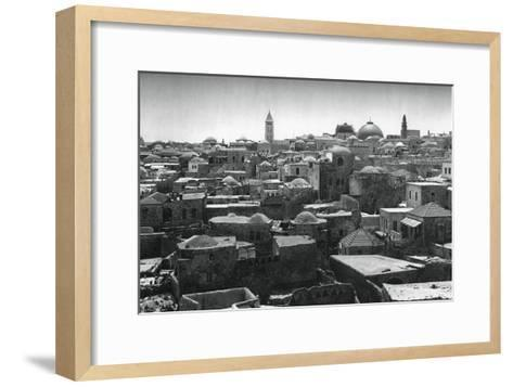 Jerusalem and Dome of the Church of the Holy Sepulchre, 1937-Martin Hurlimann-Framed Art Print