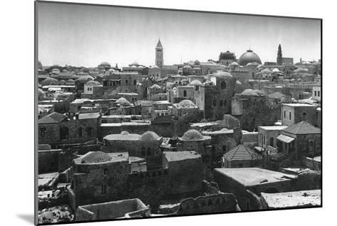 Jerusalem and Dome of the Church of the Holy Sepulchre, 1937-Martin Hurlimann-Mounted Giclee Print