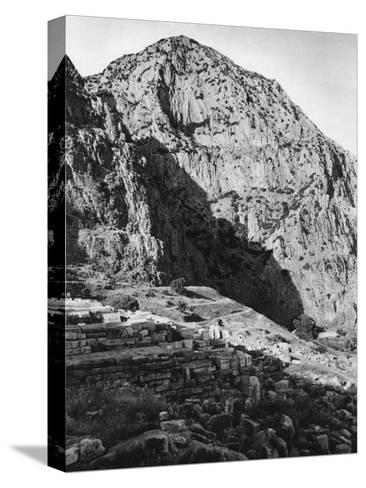 Delphi and the Phaedriades on Mount Parnassus, Greece, 1937-Martin Hurlimann-Stretched Canvas Print