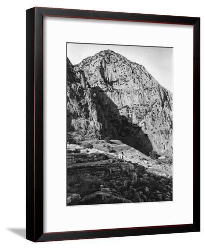 Delphi and the Phaedriades on Mount Parnassus, Greece, 1937-Martin Hurlimann-Framed Art Print