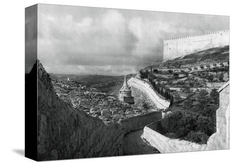 Jewish Burial Places Near the Wall of Jerusalem, 1937-Martin Hurlimann-Stretched Canvas Print