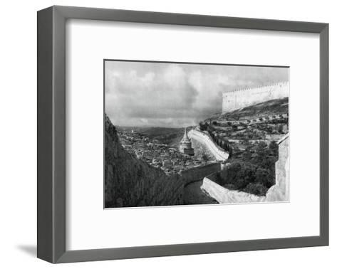 Jewish Burial Places Near the Wall of Jerusalem, 1937-Martin Hurlimann-Framed Art Print