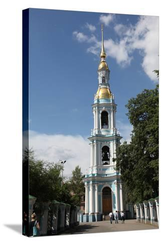 Bell Tower of St Nicholas Naval Cathedral, St Petersburg, Russia, 2011-Sheldon Marshall-Stretched Canvas Print