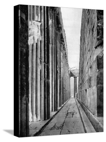 The North Side of the Parthenon, Athens, 1937-Martin Hurlimann-Stretched Canvas Print