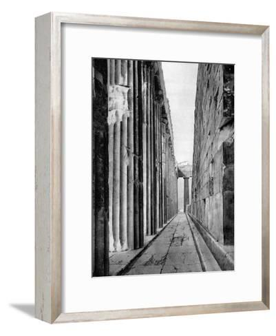 The North Side of the Parthenon, Athens, 1937-Martin Hurlimann-Framed Art Print