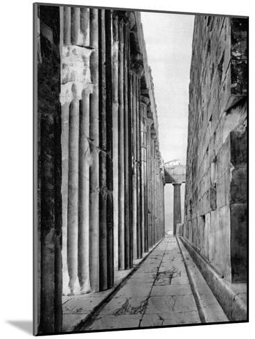 The North Side of the Parthenon, Athens, 1937-Martin Hurlimann-Mounted Giclee Print