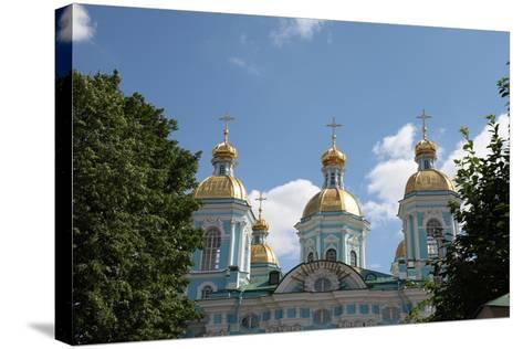 St Nicholas Naval Cathedral, St Petersburg, Russia, 2011-Sheldon Marshall-Stretched Canvas Print