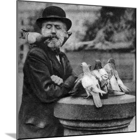 Pigeons of St Paul's with a Vagrant, London, 1926-1927-McLeish-Mounted Giclee Print
