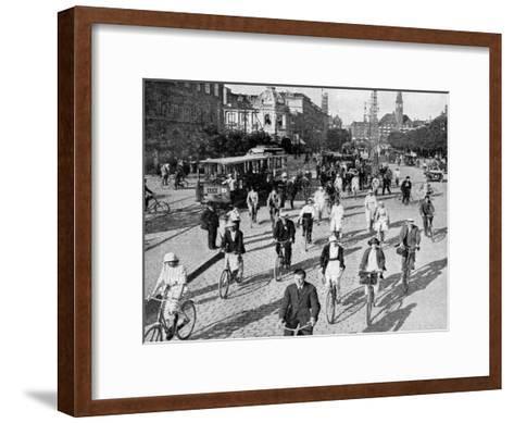 The Vesterbrogade, Copenhagen, Denmark, C1922-T Larsen-Framed Art Print