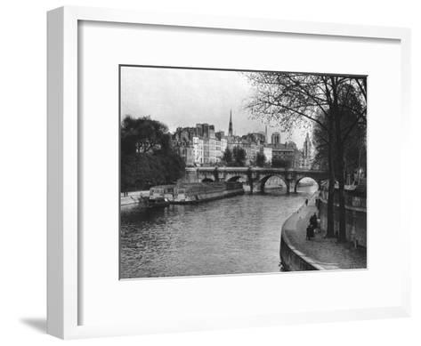 L'Ile De La Cite, Paris, 1937-Martin Hurlimann-Framed Art Print