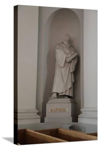 Statue of Martin Luther, Lutheran Cathedral, Helsinki, Finland, 2011-Sheldon Marshall-Stretched Canvas Print
