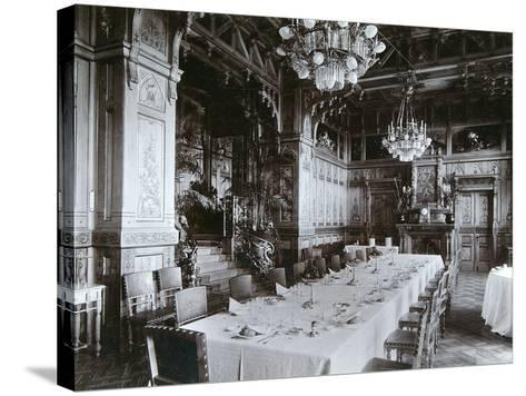 Dining Room of the Imperial Palace in Bialowieza Forest, Russia, Late 19th Century-Mechkovsky-Stretched Canvas Print