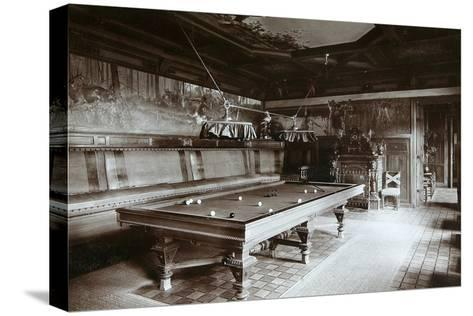 The Billiard Room, Imperial Palace, Bialowieza Forest, Russia, Late 19th Century-Mechkovsky-Stretched Canvas Print