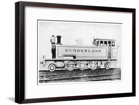 Tank Engine, Steam Locomotive Built by Kerr, Stuart and Co, Early 20th Century-Raphael Tuck-Framed Art Print