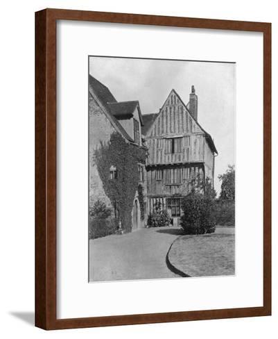The Tudor Wing, Beeleigh Abbey, Near Maldon, Essex, 1924-1926-RE Thomas-Framed Art Print