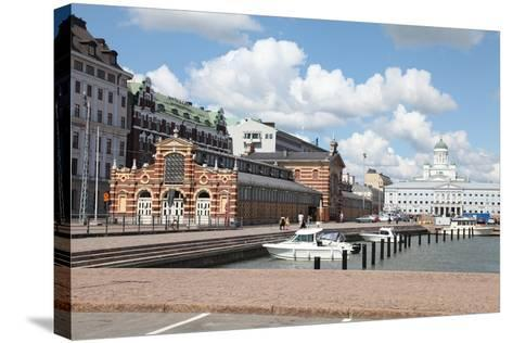 Market Square, Helsinki, Finland, 2011-Sheldon Marshall-Stretched Canvas Print