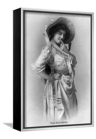 Evie Greene (1876-191), English Actress, 1905-Reinhold Thiele-Framed Canvas Print