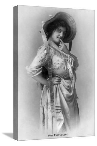 Evie Greene (1876-191), English Actress, 1905-Reinhold Thiele-Stretched Canvas Print