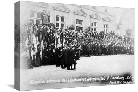 Reception for the Luxembourg Legionnaires, Luxembourg, 16 March 1919-T Wirol-Stretched Canvas Print