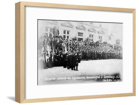 Reception for the Luxembourg Legionnaires, Luxembourg, 16 March 1919-T Wirol-Framed Art Print