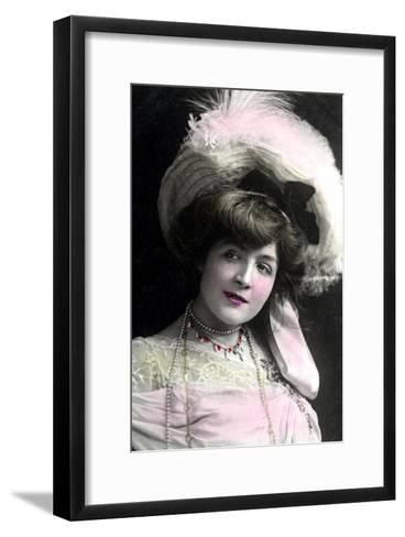 Cora Brown-Potter (1857-193), American Actress, Early 20th Century-TC Turner-Framed Art Print