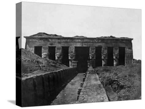 Temple of Denderah, Upper Egypt, 1852-Maxime Du Camp-Stretched Canvas Print