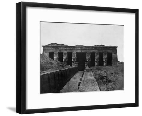 Temple of Denderah, Upper Egypt, 1852-Maxime Du Camp-Framed Art Print
