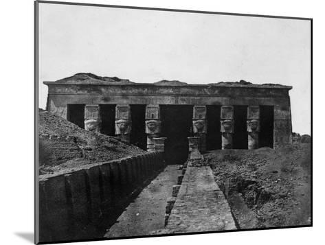 Temple of Denderah, Upper Egypt, 1852-Maxime Du Camp-Mounted Giclee Print
