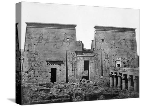 Temple of Philae, Nubia, Egypt, 1852-Maxime Du Camp-Stretched Canvas Print