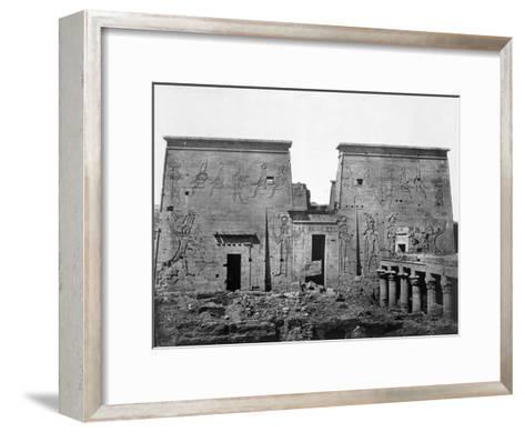 Temple of Philae, Nubia, Egypt, 1852-Maxime Du Camp-Framed Art Print