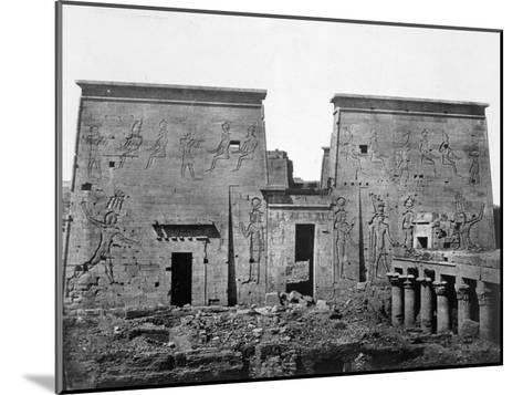 Temple of Philae, Nubia, Egypt, 1852-Maxime Du Camp-Mounted Giclee Print