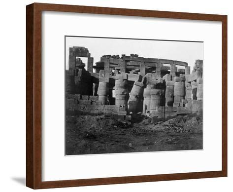 Temple Ruins, Egypt, 1852-Maxime Du Camp-Framed Art Print