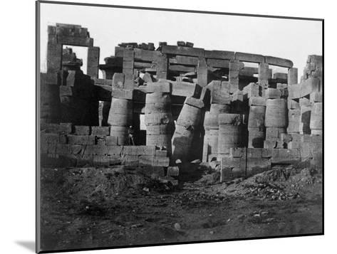 Temple Ruins, Egypt, 1852-Maxime Du Camp-Mounted Giclee Print