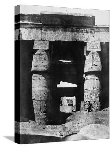 Temple Ruins, Egypt, 1852-Maxime Du Camp-Stretched Canvas Print