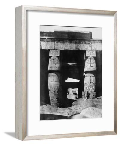 Temple Ruins, Egypt, 1852-Maxime Du Camp-Framed Art Print