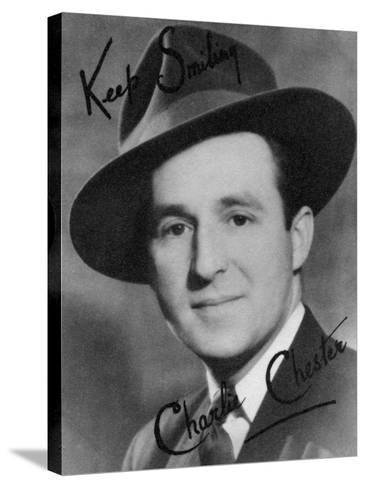 Charlie Chester, British Stand-Up Comedian and Tv and Radio Presenter, 20th Century-Montagu Watson-Stretched Canvas Print