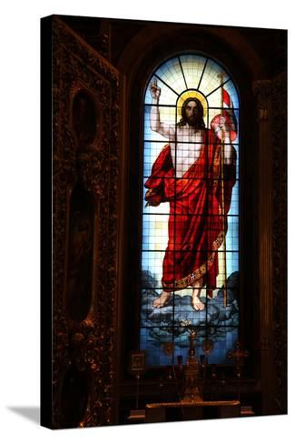 Christ, Stained Glass, St Isaac's Cathedral, St Petersburg, Russia, 2011-Sheldon Marshall-Stretched Canvas Print