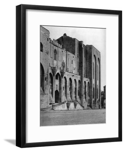 Papal Palace, Avignon, France, 1937-Martin Hurlimann-Framed Art Print