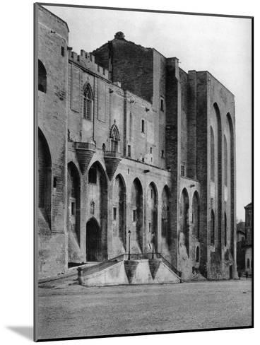 Papal Palace, Avignon, France, 1937-Martin Hurlimann-Mounted Giclee Print