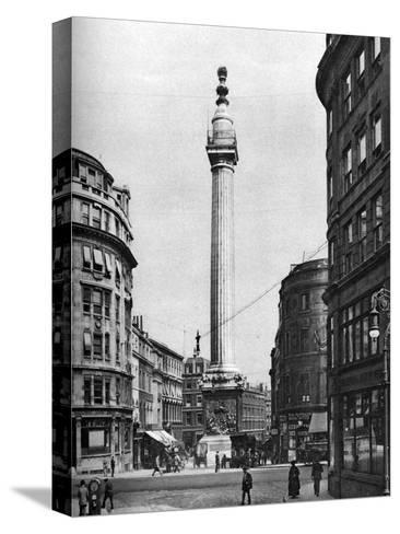 The Monument to the Great Fire, London, 1926-1927-McLeish-Stretched Canvas Print