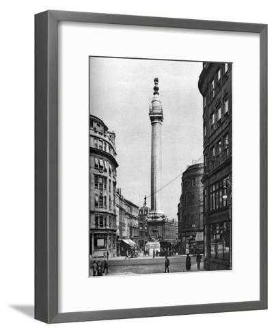 The Monument to the Great Fire, London, 1926-1927-McLeish-Framed Art Print