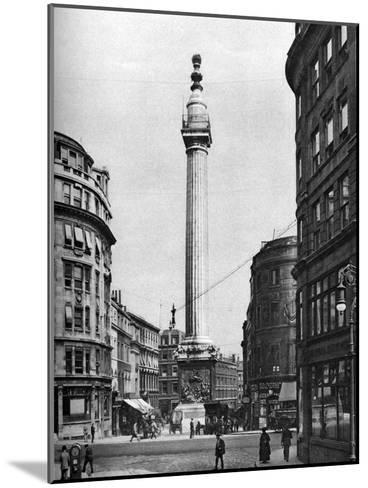The Monument to the Great Fire, London, 1926-1927-McLeish-Mounted Giclee Print