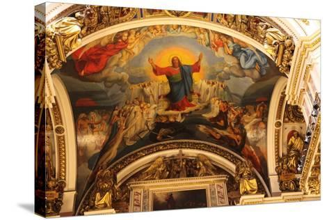 Ceiling, St Isaac's Cathedral, St Petersburg, Russia, 2011-Sheldon Marshall-Stretched Canvas Print