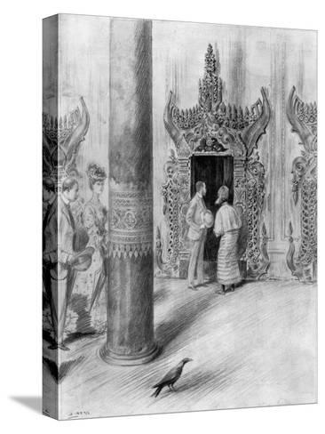 The Prince and Princess of Wales in King Theebaw's Palace, Mandalay, Burma, 1906-Samuel Begg-Stretched Canvas Print