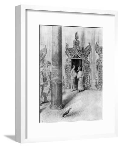 The Prince and Princess of Wales in King Theebaw's Palace, Mandalay, Burma, 1906-Samuel Begg-Framed Art Print