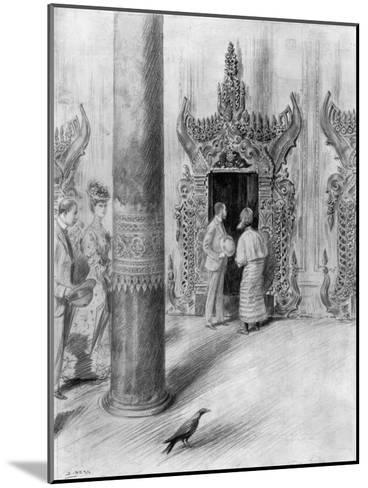 The Prince and Princess of Wales in King Theebaw's Palace, Mandalay, Burma, 1906-Samuel Begg-Mounted Giclee Print