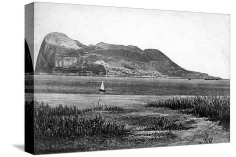 Gibraltar Rock from Campo, Early 20th Century-VB Cumbo-Stretched Canvas Print