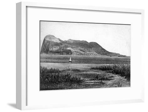 Gibraltar Rock from Campo, Early 20th Century-VB Cumbo-Framed Art Print