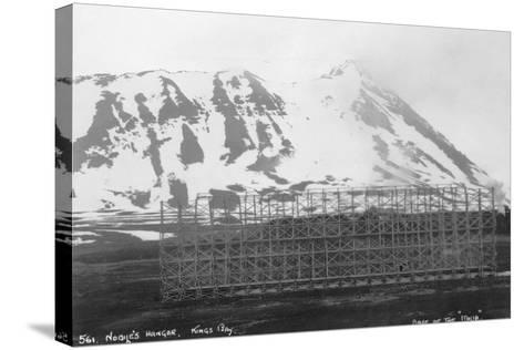Umberto Nobile's Hangar, Base of the Airship 'Italia, Kongsfjorden, Spitzbergen, Norway, 1929--Stretched Canvas Print