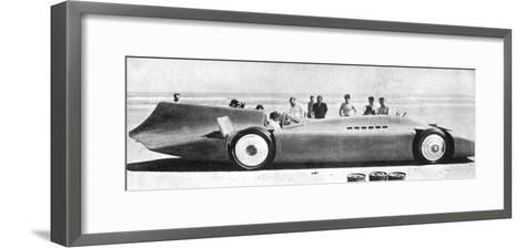 Sir Malcom Campbell (1885-194) in Bluebird, Daytona Beach, Florida, 7th March 1935 193)--Framed Art Print